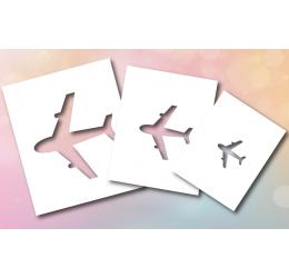 Szablon malarski samoloty