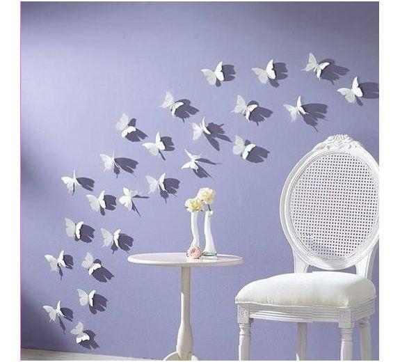 Różowe motylki 3D