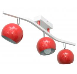 Żyrandol Morris czerwony 3-punktowy