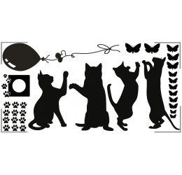 Szablon malarski wesołe koty