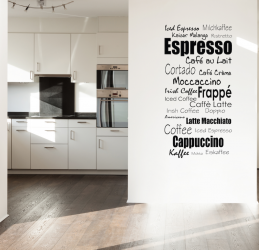 Napisy Coffee Espresso Latte NKU11