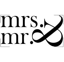 Szablon malarski Mr&Mrs