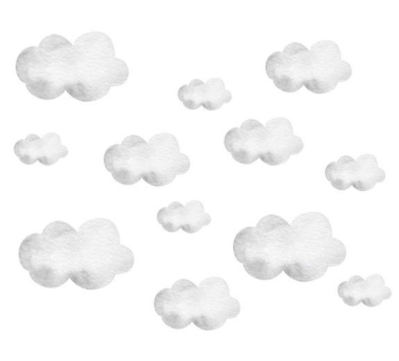 Pastelowe chmurki